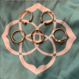 Kendra Scott rings set in gold